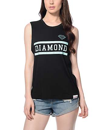 Diamond Supply Co. Collegiate Black Muscle Tank Top