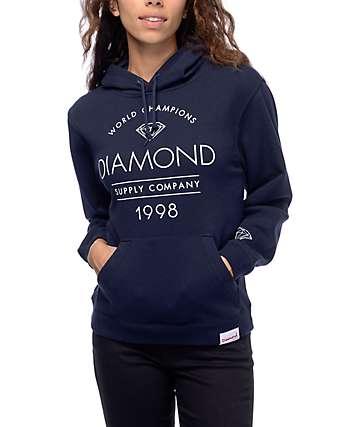 Diamond Supply Co. Craftsman sudadera con capucha en azul marino