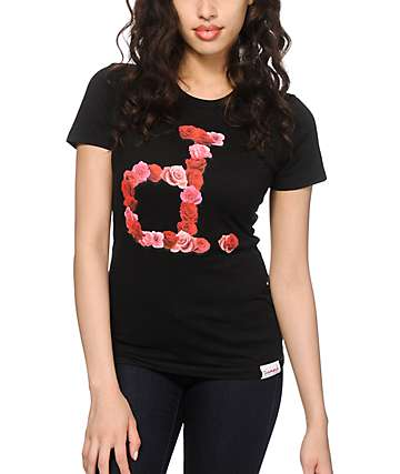 Diamond Supply Co. Cut Out Rose Un Polo T-Shirt
