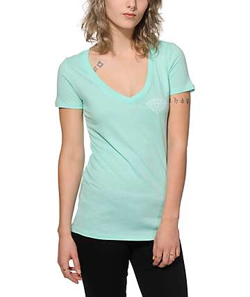 Diamond Supply Co. Diamond Blue V-Neck T-Shirt