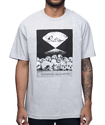 Diamond Supply Co. Diamonds Are Forever Grey T-Shirt