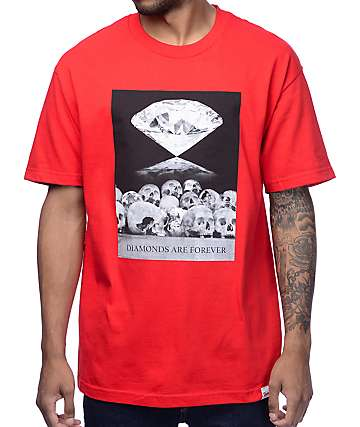 Diamond Supply Co. Diamonds Are Forever Red T-Shirt