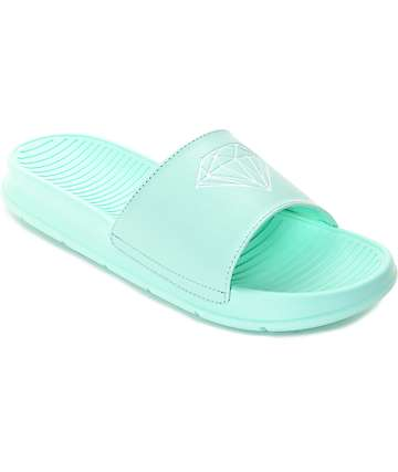 Diamond Supply Co. Fairfax Brook Green Slide Sandals