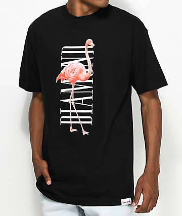 Diamond Supply Co. Flamingo Black T-Shirt