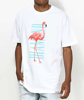 Diamond Supply Co. Flamingo White T-Shirt