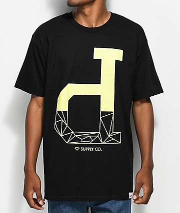 Diamond Supply Co. Fractal Un-Polo Black T-Shirt