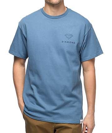 Diamond Supply Co. Futura Sign camiseta en color plomo