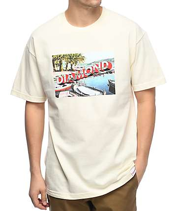 Diamond Supply Co. Getaway Cream T-Shirt
