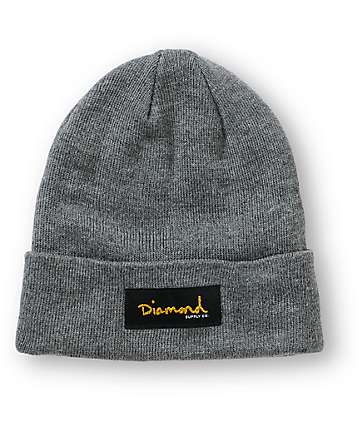 Diamond Supply Co. Gold Foil Charcoal Beanie