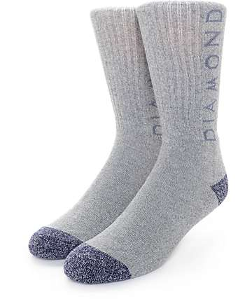 Diamond Supply Co. Heather Hi Grey Crew Socks