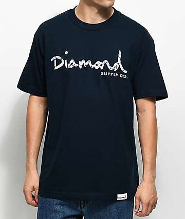 Diamond Supply Co. Infinite OG Script Navy T-Shirt