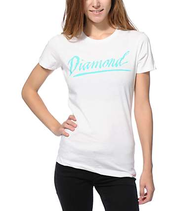 Diamond Supply Co. Jagged Script White T-Shirt