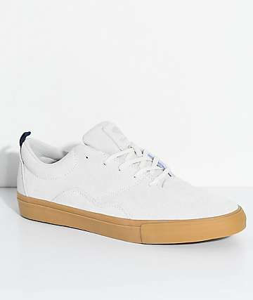 Diamond Supply Co. Lafayette Off White & Gum Skate Shoes