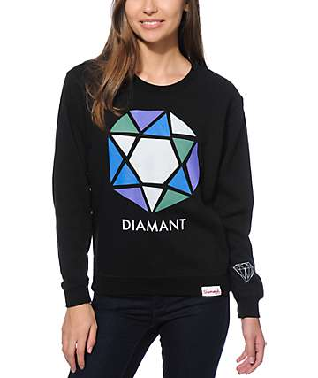 Diamond Supply Co. Le Diamant Abstract Crew Neck Sweatshirt