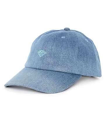 Diamond Supply Co. Leeway Sports gorra de beisbol en denim lavado azul medio