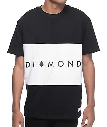 Diamond Supply Co. Marquise Block Black & White Block Knit T-Shirt