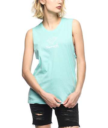 Diamond Supply Co. Mini OG Mint Muscle Tank Top