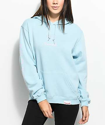 Diamond Supply Co. Mini OG Sign Light Blue Hoodie