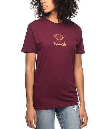 Diamond Supply Co. Mini OG camiseta en color vino