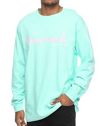 Diamond Supply Co. OG Script Blue Long Sleeve T-Shirt