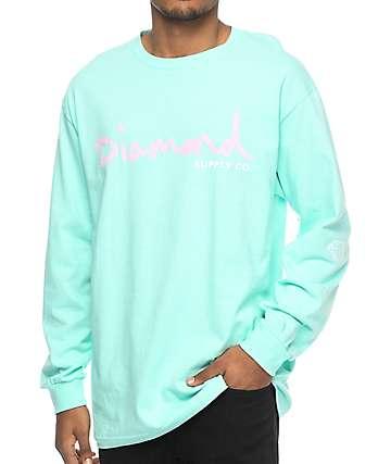 Diamond Supply Co. OG Script Blue Long Sleeve T-Shirt