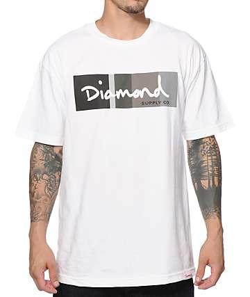 Diamond Supply Co. OG Script Colors Greyscale T-Shirt