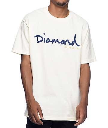 Diamond Supply Co. OG Script Cream T-Shirt