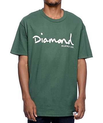 Diamond Supply Co. OG Script Forest Green T-Shirt