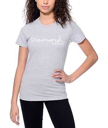 Diamond Supply Co. OG Script Heather Grey T-Shirt