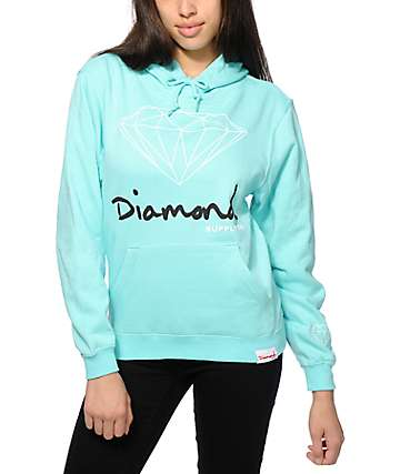 Diamond Supply Co. OG Script Mint Hoodie