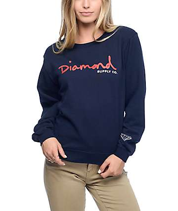 Diamond Supply Co. OG Script Navy Crewneck Sweatshirt