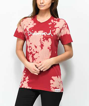 Diamond Supply Co. OG Script Red Tie Dye T-Shirt
