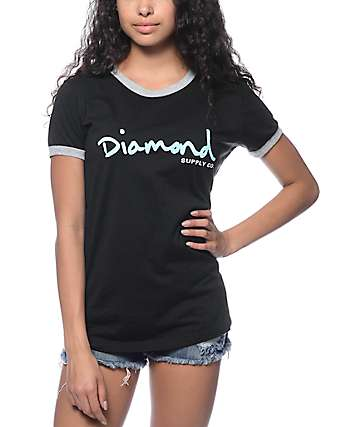 Diamond Supply Co. OG Script Ringer T-Shirt