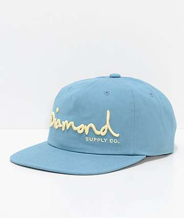 Diamond Supply Co. OG Script Unstructured Blue Snapback Hat