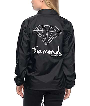 Diamond Supply Co. OG Sign Black Coaches Jacket