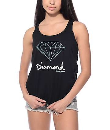 Diamond Supply Co. OG Sign Black Track Tank Top