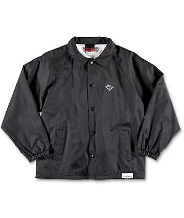 Diamond Supply Co. OG Sign Boys Black Coaches Jacket