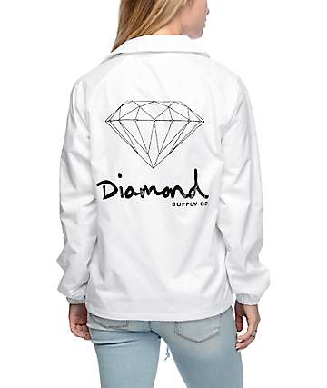 Diamond Supply Co. OG Sign White Coaches Jacket