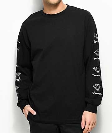 Diamond Supply Co. OG Sign camiseta negra de manga larga
