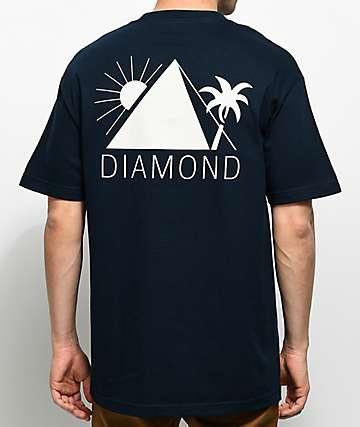 Diamond Supply Co. Oases camiseta azul marino