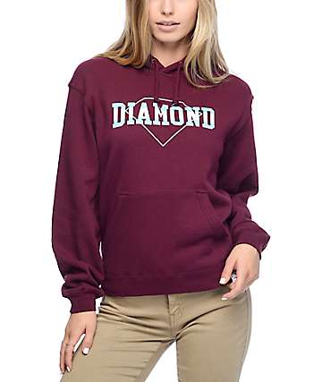 Diamond Supply Co. Overlap Burgundy Hoodie
