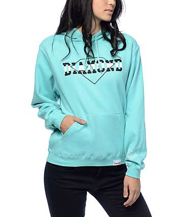 Diamond Supply Co. Overlap Diamond Blue Hoodie