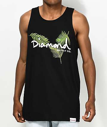 Diamond Supply Co. Palm OG Script Black Tank Top