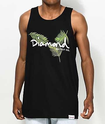 Diamond Supply Co. Palm OG Script camiseta negra sin mangas