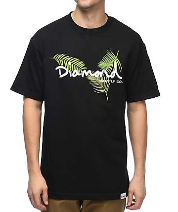 Diamond Supply Co. Paradise OG Script camiseta negra