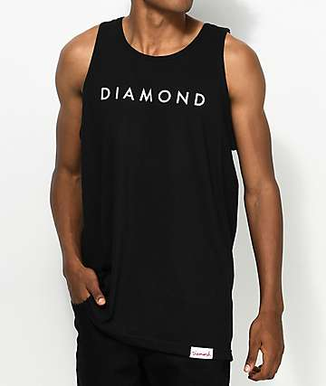 Diamond Supply Co. Practice Black Tank Top