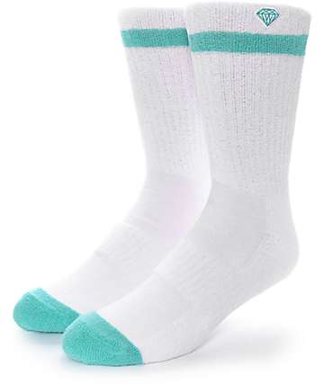 Diamond Supply Co. Pro Diamond White Crew Socks