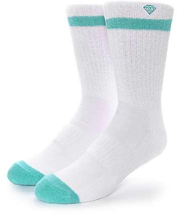 Diamond Supply Co. Pro Diamond calcetines blancos