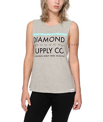 Diamond Supply Co. Roots Muscle Tank Top