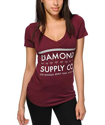 Diamond Supply Co. Roots V-Neck T-Shirt